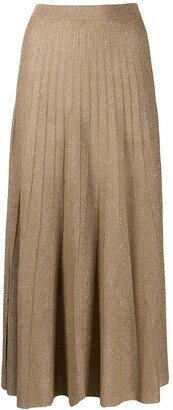 Joseph High-Waisted Pleated Skirt