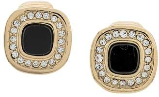 Christian Dior Pre-Owned 1980's archive square clip-on earrings