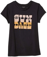 Tiny Whales Sun Daze T-Shirt (Toddler/Little Kids/Big Kids) (Vintage Black) Girl's Clothing