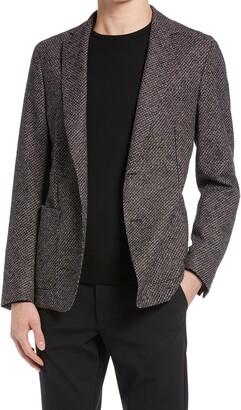 HUGO BOSS Nolvay Slim Fit Stretch Wool Blend Sport Coat