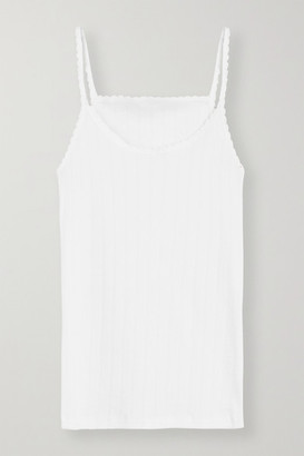Leset Pointelle-knit Cotton-jersey Tank