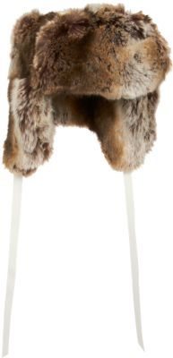Barneys New York Faux Fur Trapper Hat