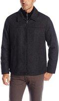 Dockers Washable Wool Blend Laydown Collar Shortie Ob W. Bib