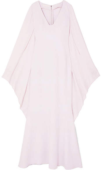 Antonio Berardi Draped Crepe And Georgette Gown - Pastel pink