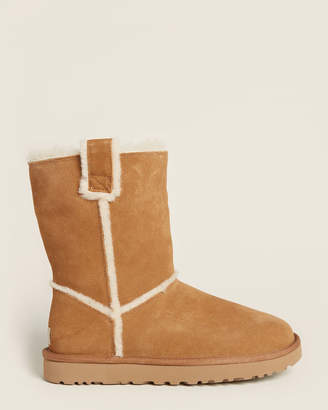 UGG Chestnut Classic Short Split Seam Shearling-Lined Boots