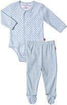 Magnificent Baby White Diamonds Pant Set (Baby) - Blue-9 Months