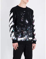 Off-White Galaxy cotton-jersey sweatshirt