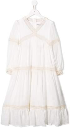 Philosophy di Lorenzo Serafini Kids long-sleeved flared dress