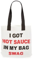 Levtex Hot Sauce Tote - White