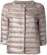 Herno three-quarters sleeve puffer jacket