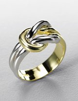 LORD & TAYLOR Sterling Silver & Gold-Plated Two-Tone Knot Ring