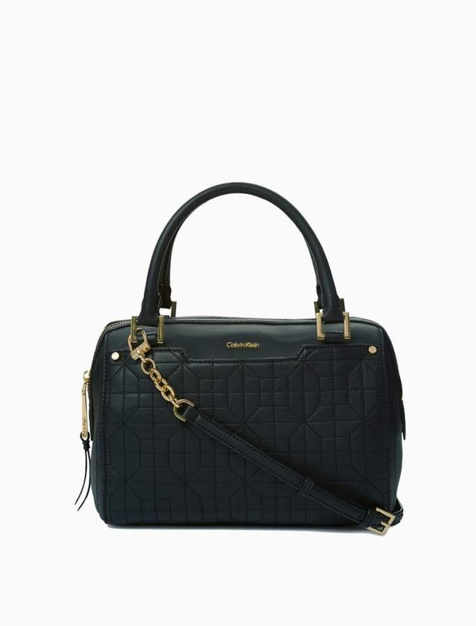 Calvin Klein quilted leather satchel