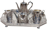 One Kings Lane Vintage Tea & Coffee Set w/ Gallery Tray, 5 Pcs