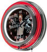 WWE Trademark 14 in. Sheamus Double Ring Neon Wall Clock