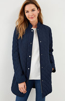 J. Jill Diamond-Quilted Zip-Front Jacket