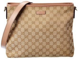 Gucci Beige Gg Canvas Messenger Bag