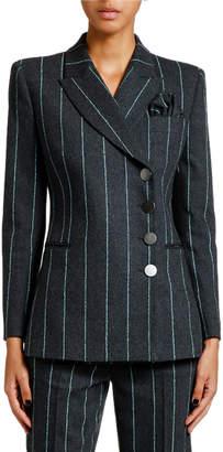 Giorgio Armani Pinstriped Flannel Double-Breasted Jacket