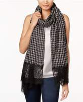 MICHAEL Michael Kors Houndstooth & Lace Wrap & Scarf in One