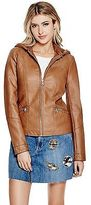 GUESS Women's Krysta Faux-Leather Bomber Jacket