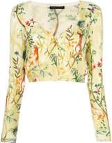 Alberta Ferretti jungle print cropped cardigan