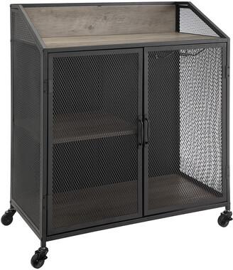 Hewson Industrial Rolling Accent Storage Kitchen Cabinet