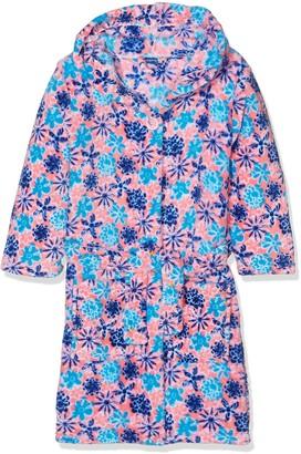Playshoes Girl's Fleece-Bademantel Veilchen Dressing Gown