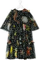 Dolce & Gabbana sheer printed dress - kids - Silk/Viscose - 8 yrs