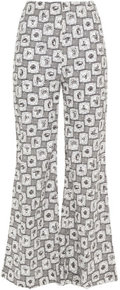 Emilia Wickstead Hullinie Printed Fil Coupe Cotton-blend Wide-leg Pants