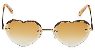 Chloé 55MM Heart Sunglasses