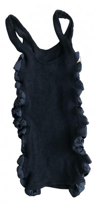 Hunza G Black Synthetic Tops
