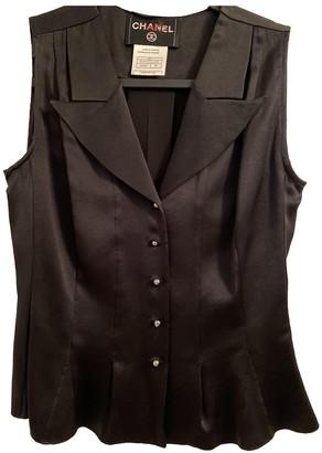 Chanel Black Silk Tops