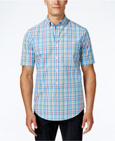 Club Room Men's Plaid Short-Sleeve Shirt, Only at Macy's