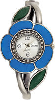 JCPenney Decree Fashion Hinged Cuff Flower Watch