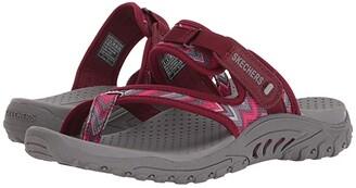 Skechers Reggae - Zig Swag (Burgundy/Pink) Women's Sandals