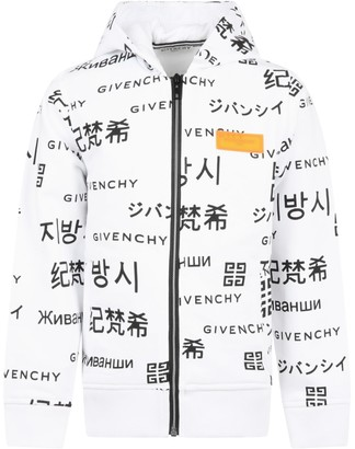 Givenchy White Sweatshirt For Boy With Logo