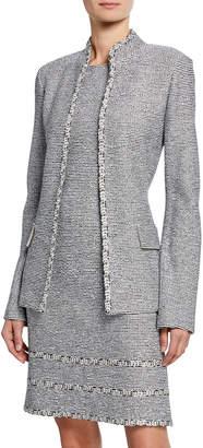 St. John Open-Front Tweed Jacket