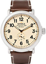 Shinola The Runwell 47mm Stainless Steel and Leather Watch