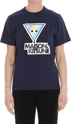 MAISON KITSUNÉ Rainbow Triangle Fox Print T-Shirt