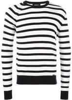 DSQUARED2 striped crew neck jumper - men - Wool - M
