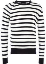 DSQUARED2 striped crew neck jumper