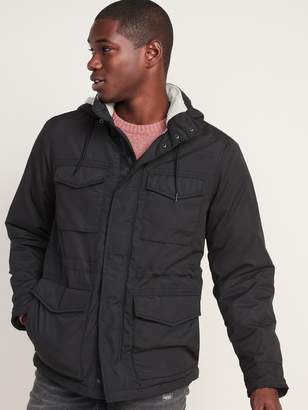 Old Navy Water-Resistant Sherpa-Lined Detachable-Hood Utility Jacket for Men