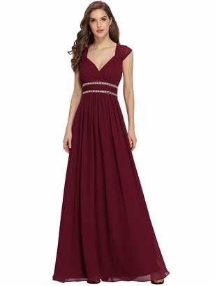 Ever Pretty Ever-Pretty Womens A Line Floor Length Sleeveless Bridesmaid Dress 22