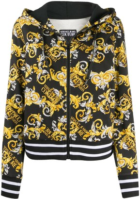 Versace Jeans Couture Baroque-Print Zipped Hoodie