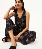 LOFT Tall Petaled Tie Back Jumpsuit
