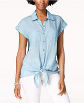 Style&Co. Style & Co Front-Tie Shirt, Created for Macy's