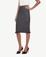 Ann Taylor Petite Fringe Tweed Pencil Skirt