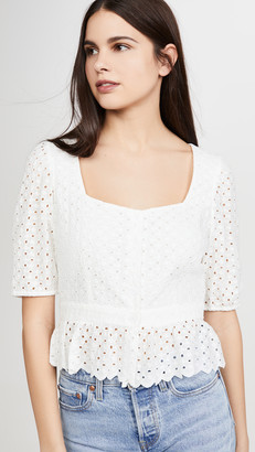 BB Dakota Scallop Cotton Eyelet Top