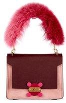 Anya Hindmarch Bathurst XS Fur-Handle Satchel Bag
