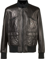 Neil Barrett zipped jacket - men - Leather/Cupro - L