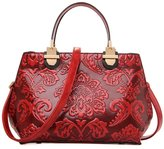 GUGGE Womens National Style Luxury Shoulder Bags Flowers Temperament Handbags(C1)